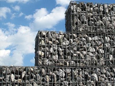 gabiony - nowoczesne ogrodzenia metalowe